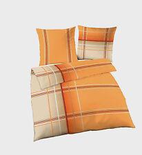 Bettwäsche 200x200 cm Streifen 47669 orange B Ware BIBER