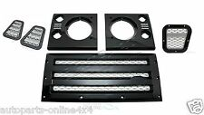 LAND ROVER DEFENDER -XS BLACK GRILLE, VENT & HEADLAMP FULL SURROUND KIT -DXSGK01