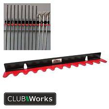 Heavy duty steel Bench Mount Shaft Holder - For 12 clubs / shafts