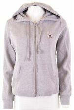 CONVERSE Womens Hoodie Sweater Size 16 Large Grey Cotton  AP02