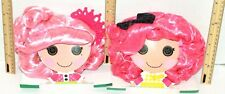 2 LOT LALALOOPSY CRUMBS SUGAR COOKIE & JEWEL SPARKLES PINK TOY COSTUME WIGS 2012