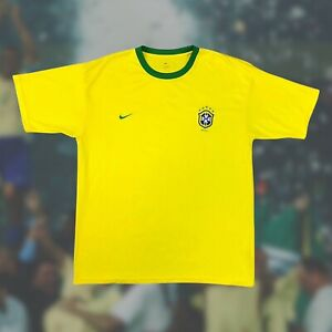 Brazil 2002 'Retro' 5 Star Soccer Jersey XL Nike Camiseta Futbol World Cup
