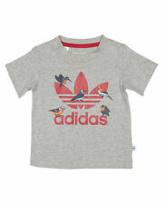 adidas Cotton Unisex Tops & T-Shirts for Children