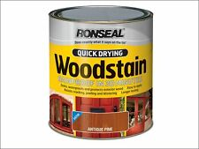 Ronseal - Quick Drying Woodstain Satin Deep Mahogany 250ml