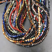 """8mm Wholesale Lot Natural Gemstone Round Spacer Loose Beads 15.5"""""""