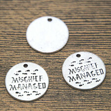 15pcs HP Mischief Managed Charms silver tone Marauders Map charm pendant 20mm