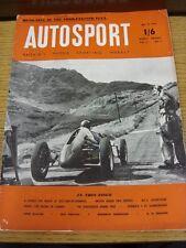 08/07/1955 AUTOSPORT Magazine: VOL 11 N. 01 (nome sulla parte anteriore, piegare, colorato)