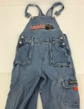 Kids HARLEY DAVIDSON Denim Jeans Overalls - 100% Cotton - Kids Size 6