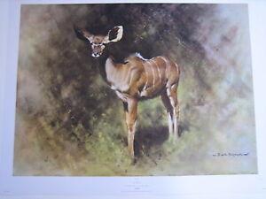DAVID SHEPHERD LIMITED EDITION KUDU (ANTELOPE) PRINT-1969