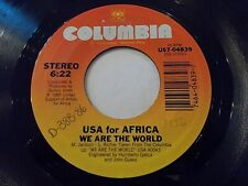 USA For Africa We Are The World / Grace 45 1985 Columbia Vinyl Record