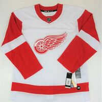 Detroit Red Wings Adidas Authentic White Red Away Jersey Men Size 52 Large New