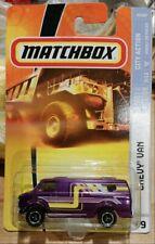 Matchbox 2007 CHEVY VAN City Action Purple
