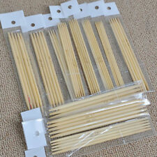 55Pcs Double Pointed Bamboo Knitting Needles Sweater Glove Knit Tool Set Useful
