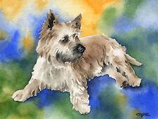 CAIRN TERRIER Painting Dog 8 x 10 ART Print by Artist DJ Rogers