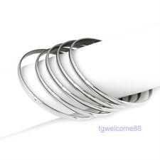 Wholesale 25pcs Fashion Silver Stainless Steel 4mm Bangle Bracelet Jewelry 68mm