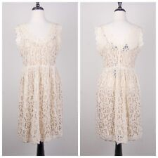 NWT Anthropologie Greylin Melusine Lace Dress Womens Petite Size L Fit & Flare