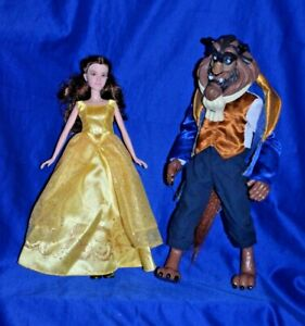 Disney Beauty & the Beast Enchanting Melodies Belle Doll & The Beast Prince Doll
