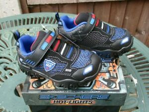 Skechers Hot Lights Trainers Damager III Lil Patroller Kids UK 7, 8, 9 BNIB