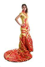 Ellie Mei Golden Mermaid Qipao  Dress. Cheongsam .  EMQ1