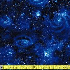 Tela de Robert Kaufman peces rata Galaxy Royal por Metro estrellas espacio Sistema Solar