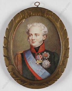 "E. Baer ""Tsar Alexander I"", Portrait Miniature, 1866"