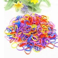 400Pcs Elastic Rubber Hair Band Tie Coil Ring Rope Hairband Ponytail Holder