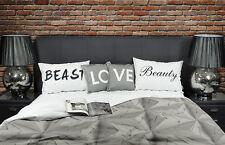 Beauty and the Beast LOVE Kissenbezug, Bettkissen, romantisches Geschenk Gift