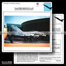 #052.20 NORD 1500 GRIFFON I & II - Fiche Avion Airplane Card