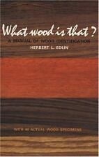 What Wood Is That?: A Manual of Wood Identification (Studio Book), Good Books