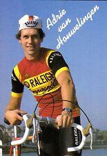CYCLISME carte  cycliste ADRIE VAN HONWELINGEN équipe TI RALEIGH 1982