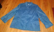 Coldwater Creek Teal Blue Jacket Shirt Women's Size 16 erc-d