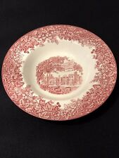 """Wedgwood Romantic England Queen's Ware 9"""" Soup/Cereal Bowl Red/Pink"""
