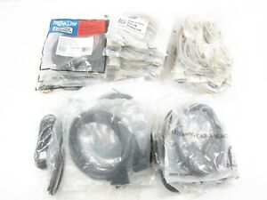 LOT of 33 Null Modem Serial RS232 Cables (DB9 F/F & M/F) 6-ft