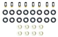V8 Fuel Injector Service Repair Kit O-Rings Filters Seals Retainers Pintle Caps