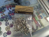 MISSION BRASS SILVER 14G 2.0MM--50 IN A BAG BICYCLE SPOKE NIPPLES
