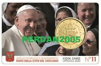 VATIKAN 2020 ORIGINAL COINCARD NR 11 VATICANO VATICAN WATYKAN ВАТИКАН 50 CENT