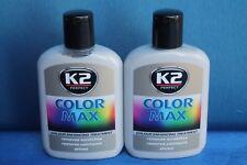 2St K2 Color Max Farbpolitur Auto- Wachspolitur Carnauba-Wachs 200ml SILBER