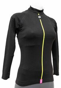Assos Spring Fall Long Slv Skin Base Layer Women Size 1 Black Road Bike Cycling