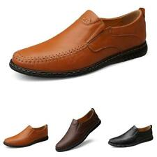 Retro Men Faux Leather Business Leisure Shoes Pumps Slip on Loafers Work 38-44 L