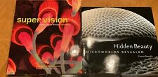 BIOLOGY RELATED ART 2 BOOK LOT: Cool Microscopic Science Photos of the Ordinary