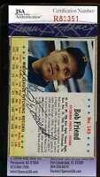 Bob Friend Jsa Coa Autographed 1963 Post Authentic Hand Signed