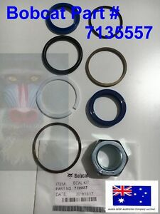 Bobcat Cylinder Seal Kit 7135557 E14 E16 E17 E19 E20 E32 E35 E42 E45 E55 430 334