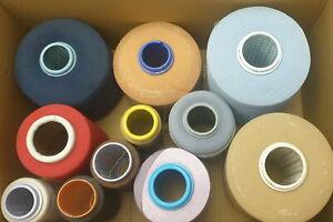 (1,25€/kg) Paket Beilaufgarn dünn gemischt Garn Wolle Stricken 11 Konen 10kg /P1