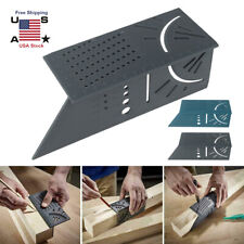 Woodworking 3D 45/90 Degree Square Size Measure Carpenter's Ruler Hand Tool US