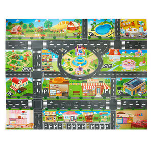Kids Toys Traffic Road Signs Playmats Car Home City Scene Baby Play Mat Carpet