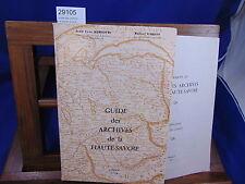 Mariotte Guide des archives de la Haute-Savoie + supplement ( explication ...