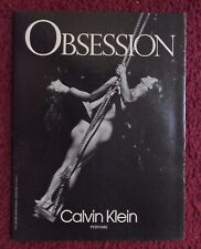 1992 Print Ad Calvin Klein Obsession Men's Cologne Fragrance ~ Nude Couple Swing