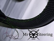 Si adatta 07+ PEUGEOT 308 Volante in Pelle Perforata Copertura Verde doppia cucitura
