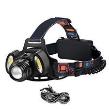 Super Hell Cree 3x LED Stirnlampe USB Kopflampe Camping Scheinwerfer Taschenlamp
