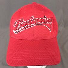 Budweiser Strapback Hat Red Baseball Cap Embroidered